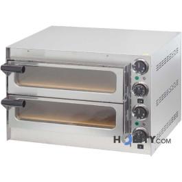 Forno pizza 2 camere con fondo in pietra refrattaria h11039
