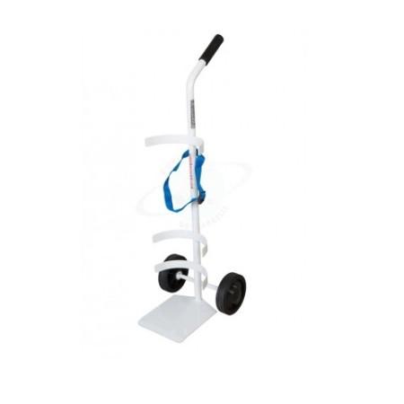 Carrello porta bombola ossigeno 15 20 litri h5510 - Carrello porta bombola ossigeno portatile ...