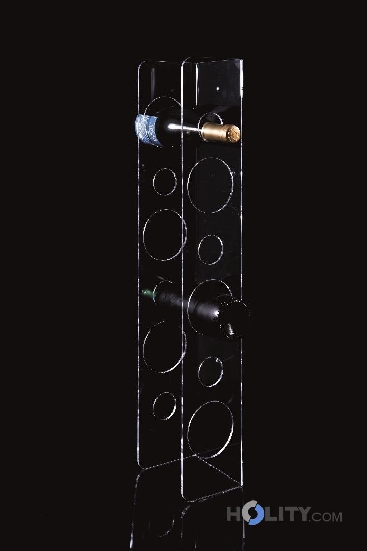 Portabottiglie da parete in plexi h9622 - Portabottiglie a parete ...