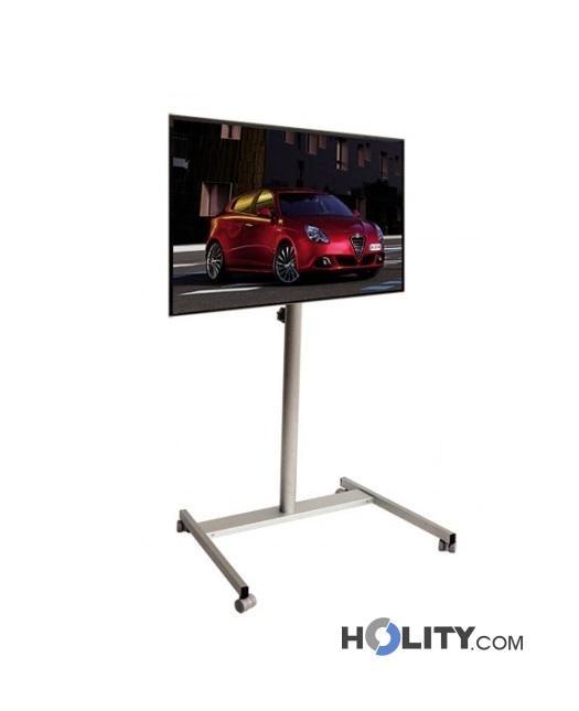 Piantana porta tv regolabile in altezza h12536 - Supporto porta tv ...