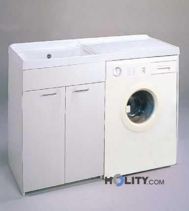 Lavatoio con vasca in metalcrilato per lavatrice h15620