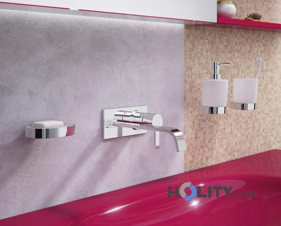 Accessori bagno in ottone e vetro satinato h107144 - Accessori bagno in ottone ...