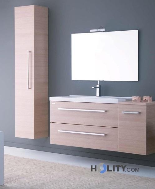 Colonna sospesa con anta reversibile e maniglia h21024 for Colonna sospesa bagno