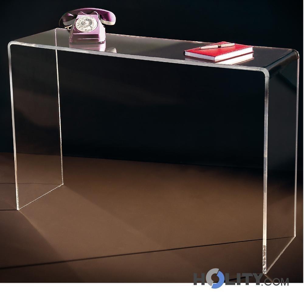 consolle in plexiglass trasparente h9636