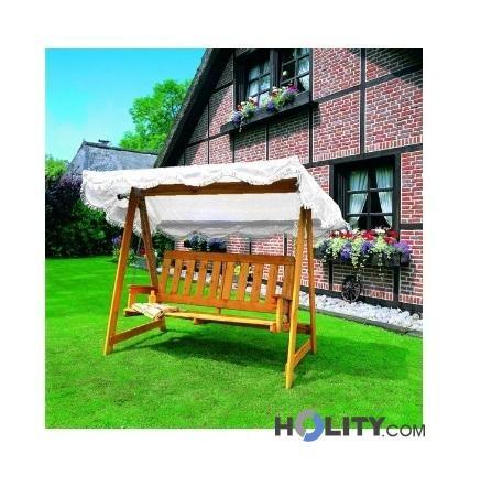 Dondolo da giardino in legno h24816 for Dondolo da giardino obi