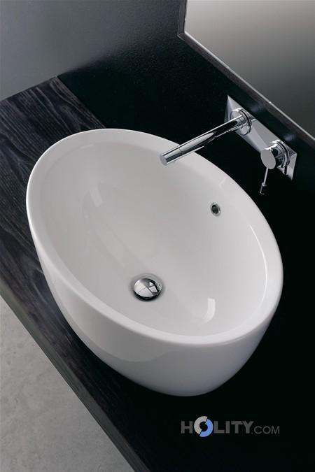 Lavabo da appoggio matty ovale scarabeo h25712 - Lavelli bagno da appoggio ...