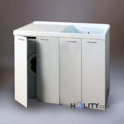 Lavatoio con vasca in metalcrilato per lavatrice con for Coprilavatrice da esterno
