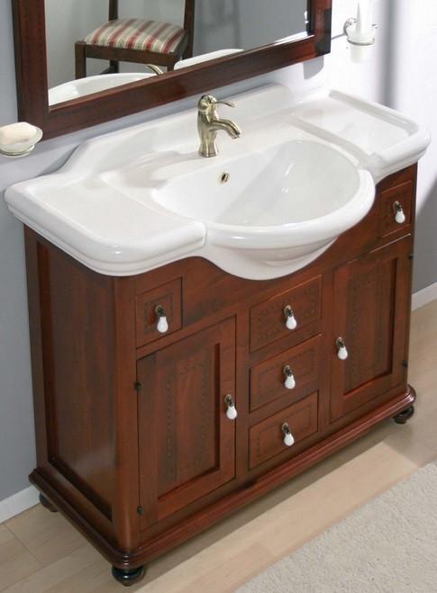 Mobile bagno con elemento decorativo h21007 for Offerta mobili bagno sospesi