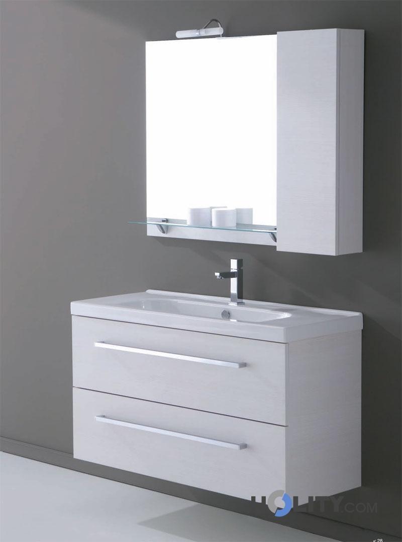 Mobile bagno sospeso con lavabo h21001 - Mobile bagno doppio lavabo leroy merlin ...