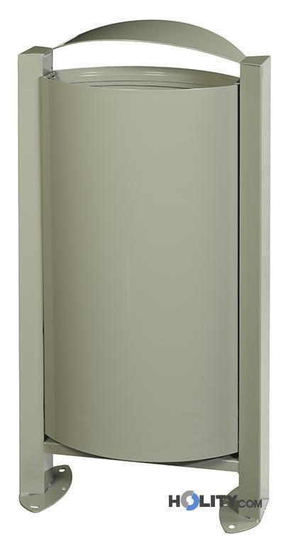 Porta rifiuti per esterno a pavimento capacità h8611