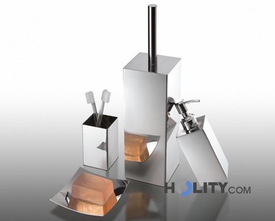 Set accessori bagno in acciaio inox h107128 - Accessori bagno in acciaio ...
