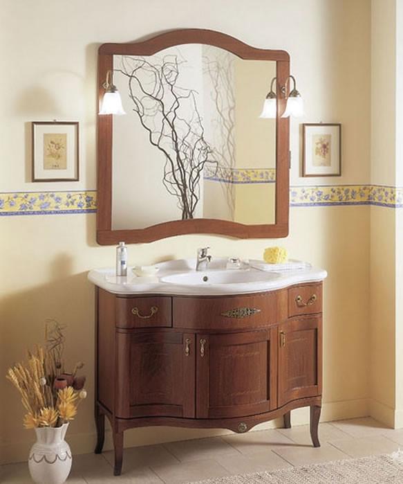 Mobile bagno classico in legno h11301 - Mobile da bagno classico ...