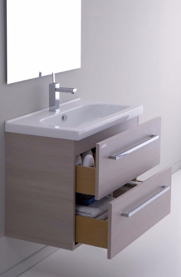 Mobile bagno sospeso con lavabo h21001 for Mobile lavabo