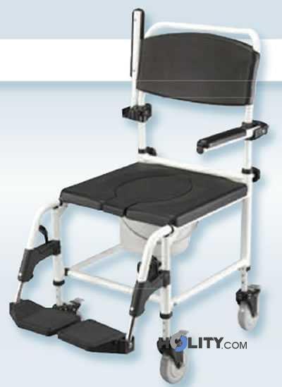 Sedia a rotelle da doccia e da comodo h9928 - Sedia da bagno per disabili ...