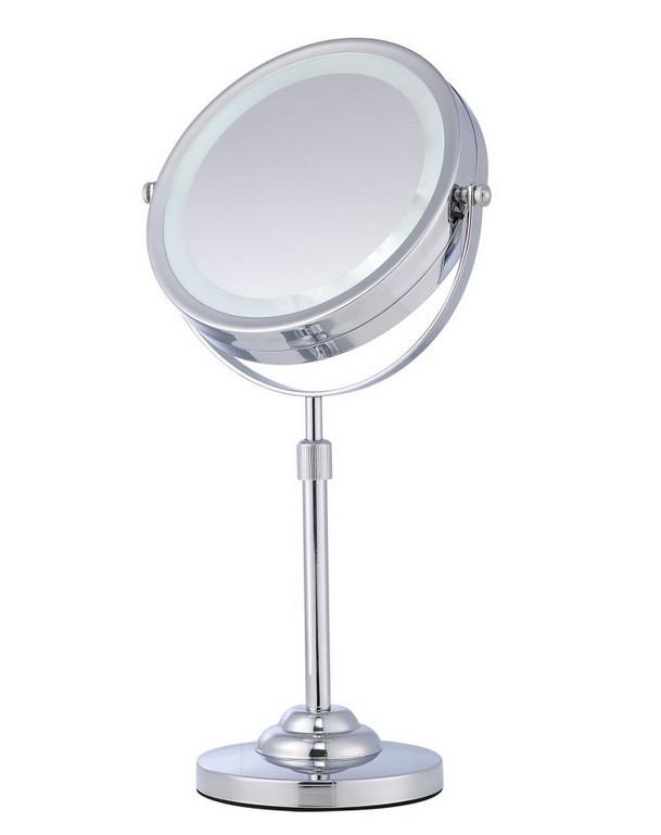 Specchio cosmetico ingranditore da tavolo con luce h16423 for Specchio da tavolo con luce ikea