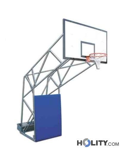 Impianto basket su ruote h3645