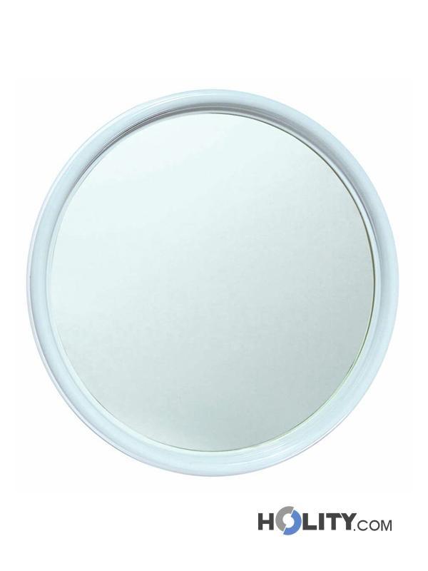 Pin vintage specchio bagno circolare con cornice decorata - Specchio ovale vintage ...