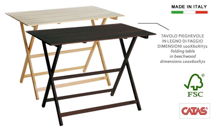 Cerchi tavolo pieghevole in legno h8222 for Tavolo in legno pieghevole