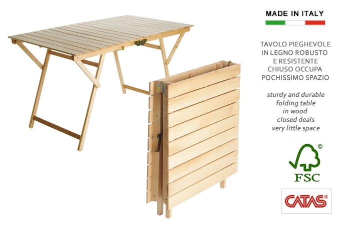 Tavolo in legno ripiegabile a valigetta h8223 - Tavolo in legno pieghevole ...