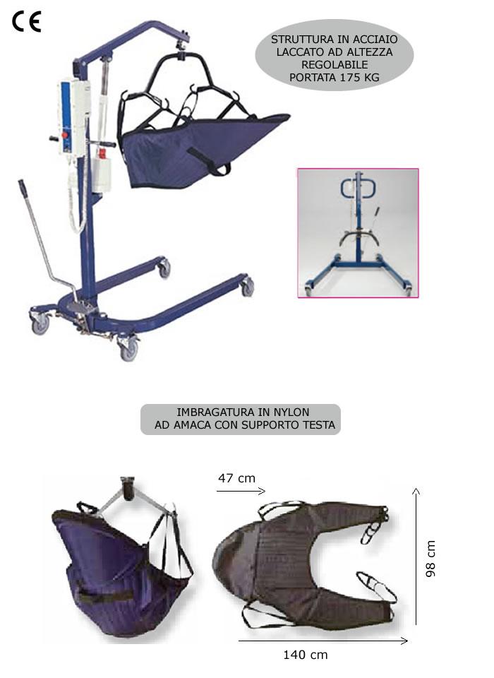 Cerchi sollevatore elettrico per disabili con imbracatura h9909 ampia scelta su - Letto con sollevatore per disabili ...