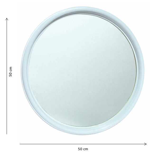 Specchio bagno ovale in plastica h2041 - Specchio ovale per bagno ...