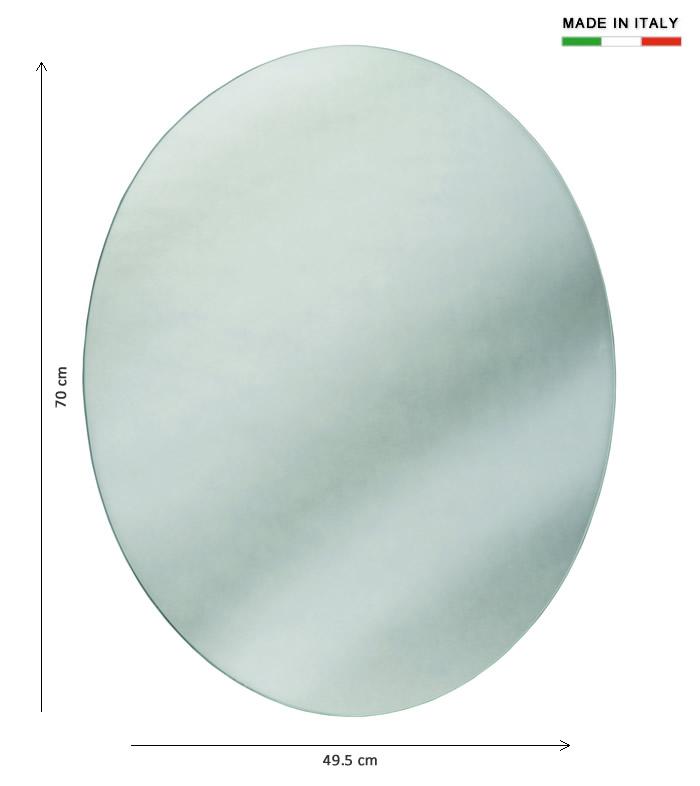 Specchio bagno ovale h2040 - Specchio ovale da terra ...