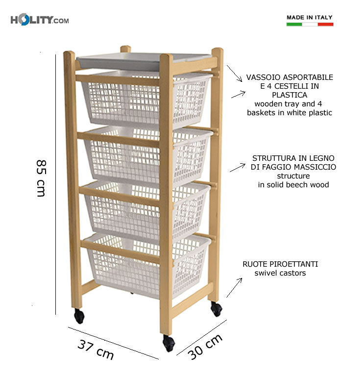 pratico economico e resistente carrello da cucina da utilizzare come ...