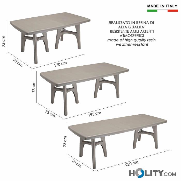 Cerchi tavolo giardino scab tris allungabile h7475 - Tavoli in plastica da esterno ...