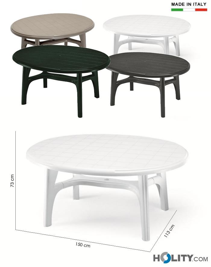 Tavolo scab ovolone in resina h7477 - Tavoli in resina da esterno ...