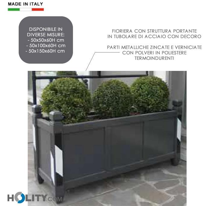 Fioriera arredo urbano in acciaio h10910 for Fioriere arredo urbano