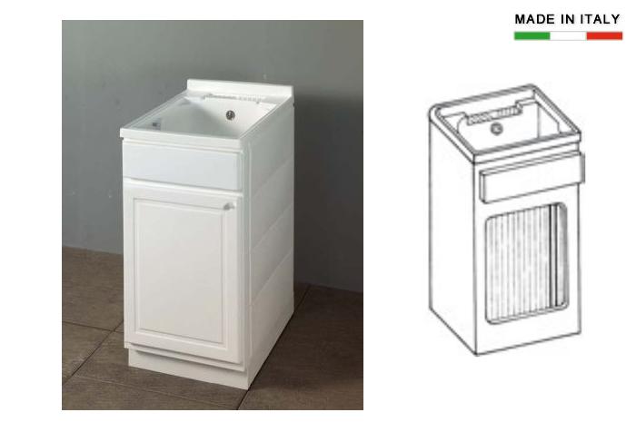 Lavatoio per esterni con vasca in resina h15628 - Lavatrice esterno ...