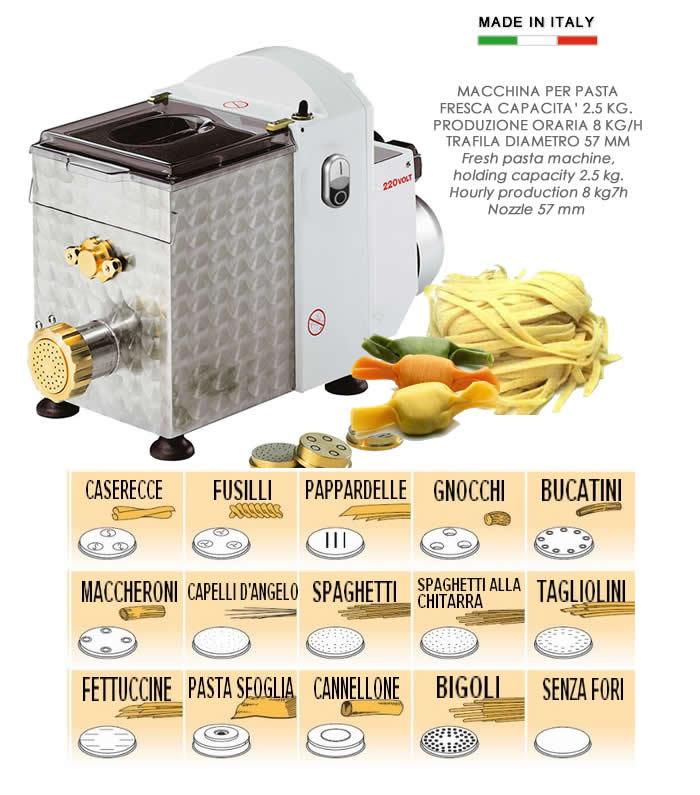 Macchina per pasta fresca 2 5 kg h09109 - Macchina per pasta fresca in casa ...