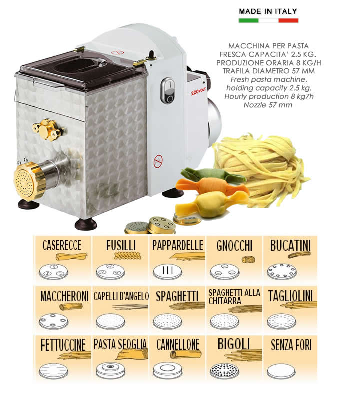 Macchina Per Pasta : Macchina per pasta fresca kg h