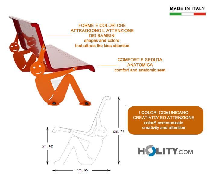 Cerchi panchina per arredo urbano colorata h14010 for Produzione arredo urbano