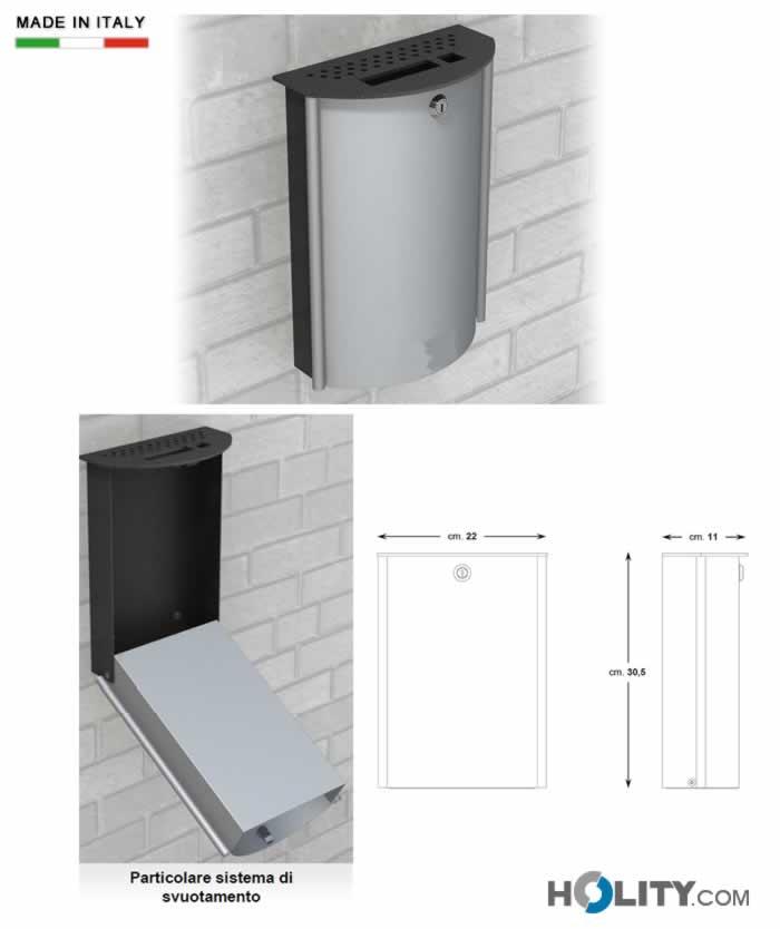 Posacenere a muro in metallo per arredo urbano h14054 for Posacenere da esterno ikea
