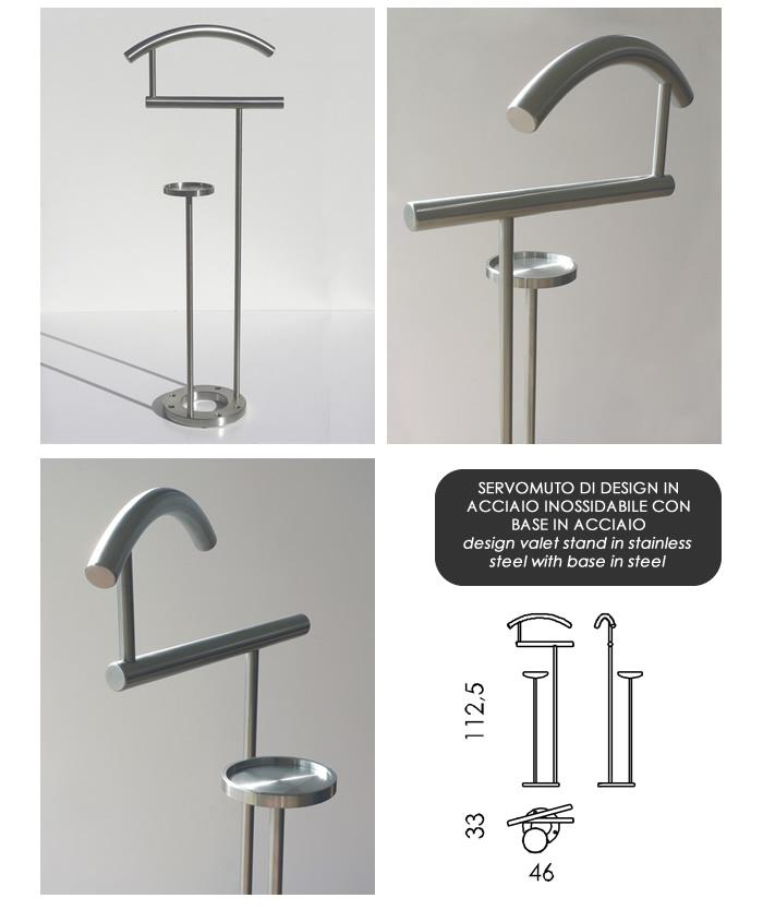 Servomuto di design in acciaio h9713 - Servo muto design ...