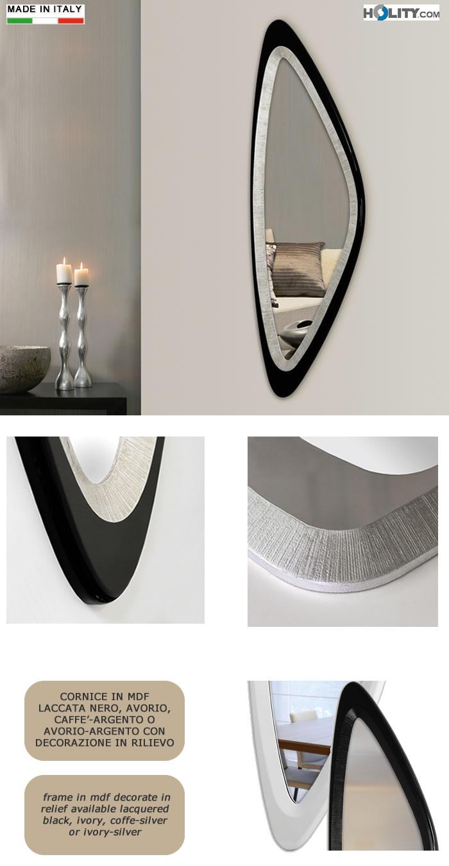 Specchiera di design con decorazione in rilievo h11982 for Decorazione e design