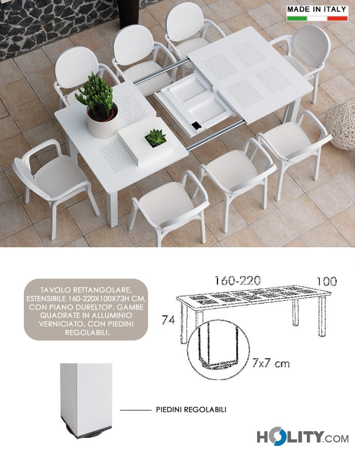 Tavolo da giardino allungabile in resina e alluminio h13323 for Tavolo in alluminio